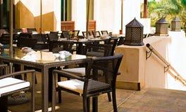 Opróżnia indoors restaurację Obraz Stock