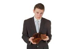 opróżnia mężczyzna pokazywać portfel Zdjęcia Royalty Free
