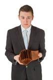 opróżnia mężczyzna pokazywać portfel Fotografia Royalty Free