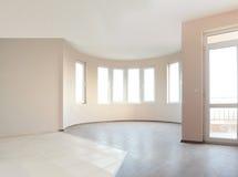 opróżnia niedawno malującego pokój Zdjęcia Royalty Free