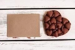 Opróżnia papier i czekoladę Obrazy Stock