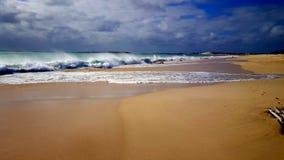 Opróżnia plażę na boa Vista Obraz Stock