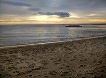 Opróżnia plażę w Cambrils Hiszpania obraz royalty free