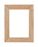 Opróżnia drewnianą fotografii ramę Obrazy Stock
