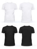 Opróżnia przód koszulki dla mężczyzna i kobiet ilustracja wektor