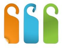 opróżnia różnorodne papierowe ustalone etykietki Obrazy Stock