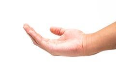 Opróżnia ręki mienia odizolowywającego na bielu Zdjęcia Stock