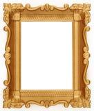 opróżnia ramowego złoto Obrazy Stock