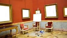 opróżnia ramowej galerii wewnętrzną ścianę Fotografia Royalty Free