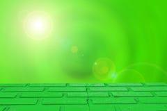 Opróżnia stół na Naturalnym zielonym ruch plamy abstrakcie Zdjęcia Stock
