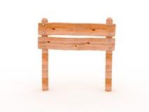 opróżnia szyldowy drewnianego Zdjęcia Royalty Free