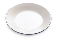 Opróżnia talerza na białym tle Fotografia Royalty Free