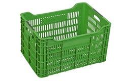 Opróżnia zieloną skrzynkę, odizolowywającą na bielu Zdjęcia Stock