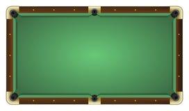 Opróżnia zielonego basenu stół Zdjęcia Stock