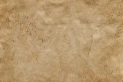 Opróżniam plamił starego brown papieru prześcieradło Tło obraz stock