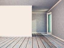 opróżnij ścianę white Zdjęcie Stock