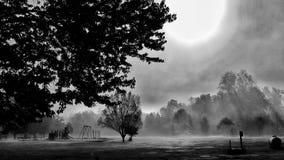 Opróżnia parka w ranku Zdjęcie Stock
