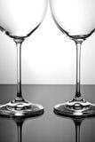 opróżnia wineglass dwa Obrazy Royalty Free