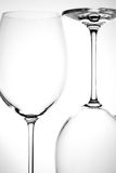 opróżnia wineglass dwa Obraz Royalty Free