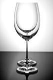 opróżnia wineglass dwa Fotografia Royalty Free