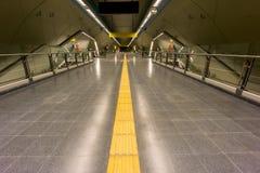 opróżnij na metro Zdjęcia Royalty Free