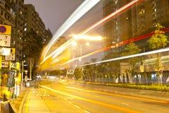 oprócz autobusu światła przerw ruch drogowy Fotografia Stock