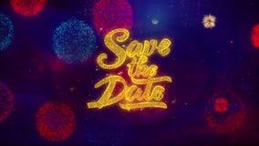Oprócz Daktylowych powitanie teksta błyskotania cząsteczek na Barwionych fajerwerkach 1 zdjęcie wideo
