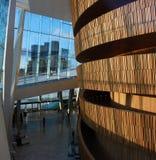 Opéra d'Oslo regarder-à travers Photographie stock libre de droits