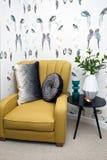 opracowane do domu żywy wewnętrznego styl retro pokoju Zdjęcia Royalty Free