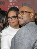 Oprah Winfrey en Courtney B vance royalty-vrije stock foto's