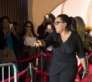 Oprah Winfrey Greets Fans stock afbeelding