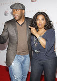 Oprah Winfrey and Tyler Perry. HOLLYWOOD, CA - NOVEMBER 01, 2009. Oprah Winfrey and Tyler Perry at the AFI FEST 2009 Screening of 'Precious' held at the Grauman' stock photography