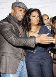 Oprah Winfrey and Tyler Perry. HOLLYWOOD, CA - NOVEMBER 01, 2009. Oprah Winfrey and Tyler Perry at the AFI FEST 2009 Screening of 'Precious' held at the Grauman' royalty free stock photography
