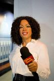 Oprah Winfrey Wax Figure. Oprah Gail Winfrey is an American media proprietor, talk show host, actress, producer, and philanthropist. Oprah Winfrey wax figure Stock Photos