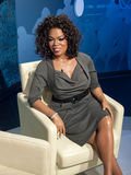 Oprah Winfrey wax statue. At the famous Madame Tussaud's museum in Bangkok, Thailand Royalty Free Stock Photos