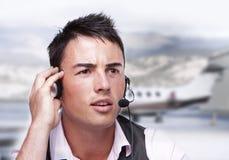 Opérateur de mouche d'aéroport Images libres de droits