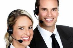 Opérateurs de centre d'attention téléphonique Photographie stock libre de droits