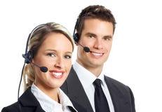 Opérateurs de centre d'attention téléphonique Photo stock