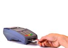 Opérations bancaires de carte de Cradit Images stock