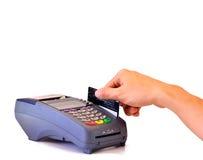 Opérations bancaires de carte de Cradit Photo libre de droits