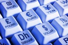 Opérations bancaires du monde en ligne Images stock
