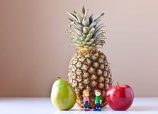 Oprimido por Nutrição Escolha (fruta) Imagens de Stock Royalty Free