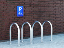 Opróżnia roweru parking Zdjęcie Royalty Free