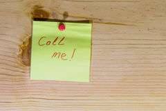 Oproepen me? Stock Fotografie