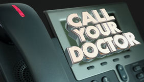 Oproepen Uw de Raadsgezondheid van Artsenphone medical help Royalty-vrije Stock Afbeelding