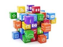 Oprogramowania app pojęcie Obrazy Stock