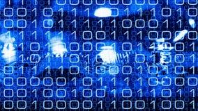 Oprogramowania programowanie, binarny kod i elektronicznego obwodu deska, Fotografia Stock
