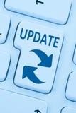 Oprogramowanie aktualizaci sieci ochrony wirusowa błękitna online sieć ilustracji