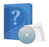 Oprogramowanie cd i pudełko Obrazy Stock