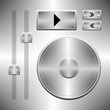 Oprogramowanie gracza guziki ustawiający Zdjęcie Stock